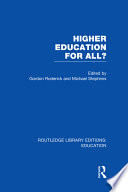 Higher Education For All