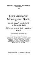 Liber Amicorum Monseigneur Onclin