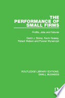 The Performance of Small Firms