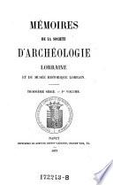Bulletins de la societe d'archeologie Lorraine