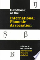 Handbook of the International Phonetic Association
