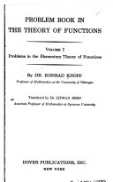Problem Book in the Theory of Functions  Problems in the elementary theory of functions  translated by L  Bers