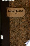Leipziger gelertes Tagebuch
