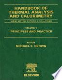 Handbook Of Thermal Analysis And Calorimetry book