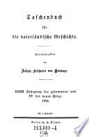 Taschenbuch für die vaterländische Geschichte