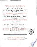 Poet   latini minores     curante Petro Burmanno qui   suas adjecit adnotationes  Tom  1    2