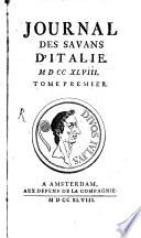 Journal Des Savans D Italie