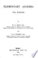 Elementary Algebra for Schools