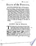 State Of The Process, Alexander Earl Of Galloway [and Others] ... All Udalmen, And Proprietors Of Lands And Heritages In The Islands Of Orkney, Against James Earl Of Morton [for The Reduction Of The Weights Used In Orkney And Shetland To The Original Standard]. (Nov. 12, 1757.). : ...