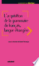 Acquisition de la grammaire du fran  ais langue   trang  re