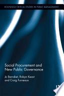 Social Procurement and New Public Governance
