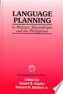 Language Planning In Malawi Mozambique And The Philippines
