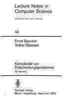 Komplexit T Von Entscheidungsproblemen book