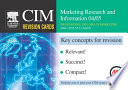 CIM Revision Cards  Marketing Research and Information 04 05