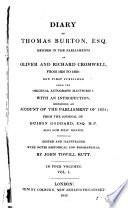 Diary of Thomas Burton  1