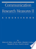 Communication Research Measures Ii book