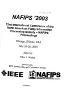 Annual Meeting Of The North American Fuzzy Information Processing Society--NAFIPS. : ...