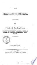 Zur Handschriftenkunde