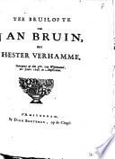 Ter bruilofte van Jan Bruin, met Hester Verhamme. Getrouwt op den 5den van wijnmaand, des jaars 1698. in Amsterdam