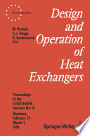 Design and Operation of Heat Exchangers