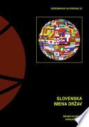 Slovenska imena držav