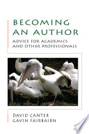 Becoming An Author  Advice For Academics And Other Professionals
