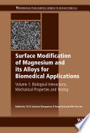 Surface Modification of Magnesium and its Alloys for Biomedical Applications