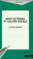 Droit Du Travail Et Culture Sociale