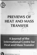 Previews of Heat and Mass Transfer