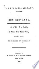 Don Giovanni Don Juan