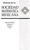 Bolet  n de la Sociedad Matem  tica Mexicana