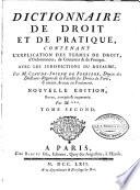 Dictionnaire de droit et de pratique