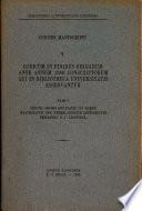 Codicum in Finibus Belgarum Ante Annum 1550 Conscriptorum Qui in Bibliotheca Universitatis Asservantur