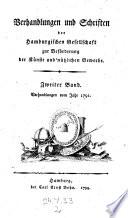 Verhandlungen und Schriften der Hamburgischen Gesellschaft zur Beförderung der Künste und nützlichen Gewerbe