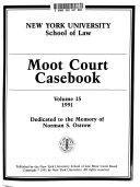 Moot Court Casebook