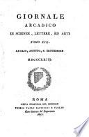 Giornale arcadico di scienze  lettere ed arti