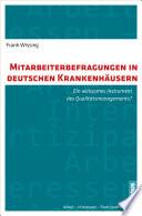 Mitarbeiterbefragungen in deutschen Krankenhäusern