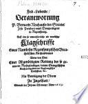 Frid-Liebende Verantwortung P. Bernardi Neuhauser ... auff eine so unnachbarliche als unnöthige Klagschrifft eines Namlosen Regenspurgischen Uncatholischen Kirchendieners ...