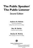 The Public Speaker the Public Listener