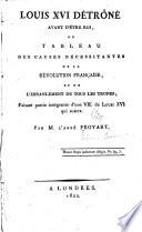 Louis XVI d  tron   avant d   tre roi