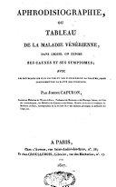 Aphrodisiographie, ou tableau de la maladie vénérienne