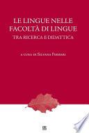 Le lingue nelle facoltà di lingue. Tra ricerca e didattica