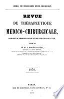 Revue de thérapeutique médico-chirurgicale
