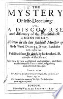 The Mystery of Selfe deceiving     Published by J  D yke   Augmented and Enlarged