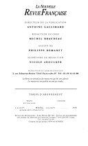 La chose et le nom (Opus incertum II 1982-1983)