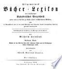 Allgemeines bůcher-lexikon