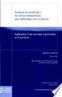 Analyse et prédiction de séries temporelles par méthodes non linéaires