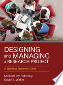 Designing and Managing a Research Project