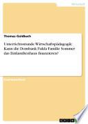 Unterrichtsstunde Wirtschaftsp Dagogik Kann Die Dombank Fulda Familie Sommer Das Einfamilienhaus Finanzieren