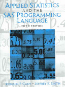 Ebook Applied Statistics and the SAS Programming Language Epub Ronald P. Cody,Jeffrey K. Smith Apps Read Mobile